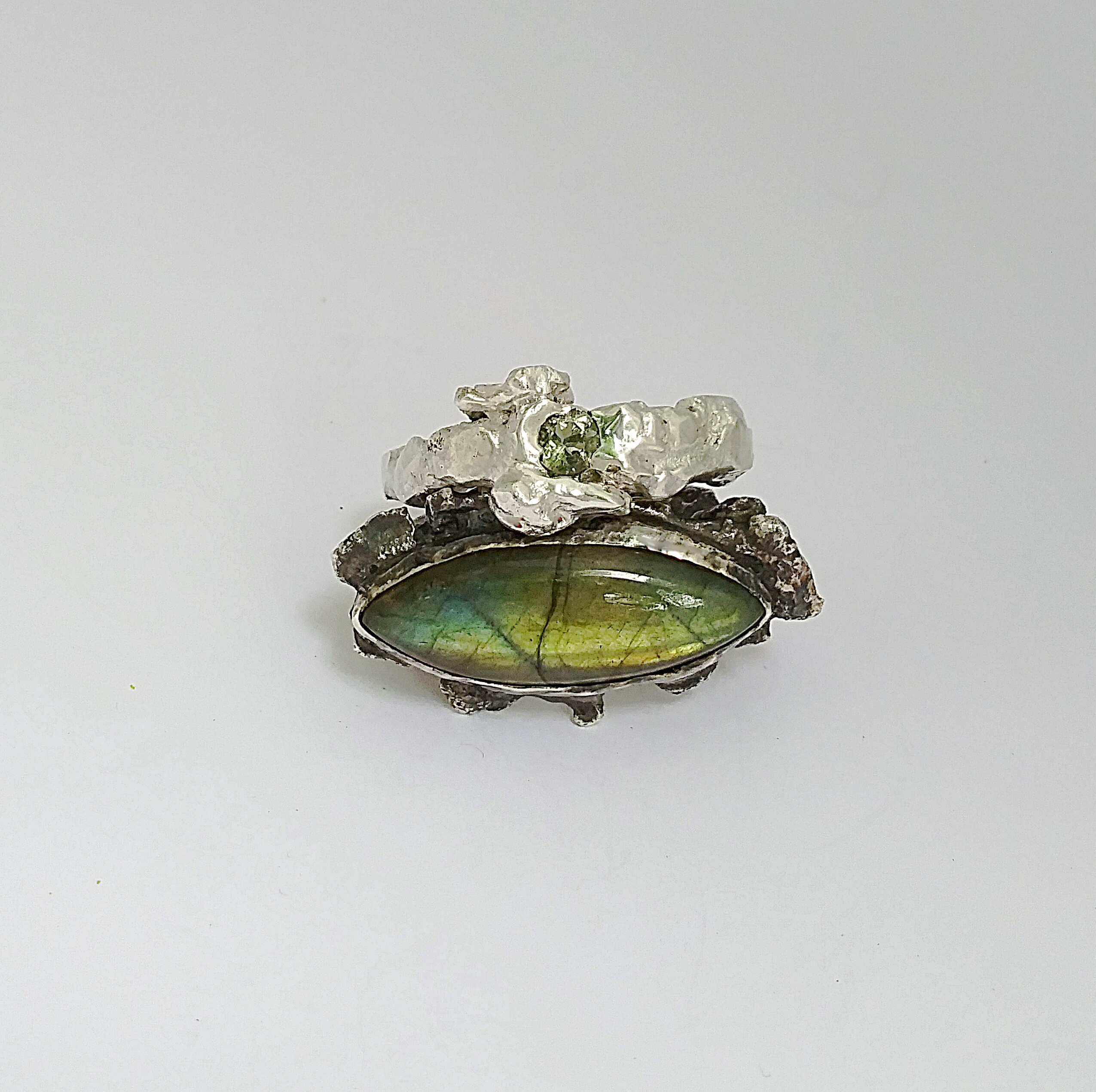Labradorite & Green Amethyst Ring Set