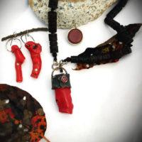 Red Coral & Garnet Necklace