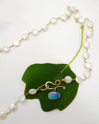 Oval Opal Necklace