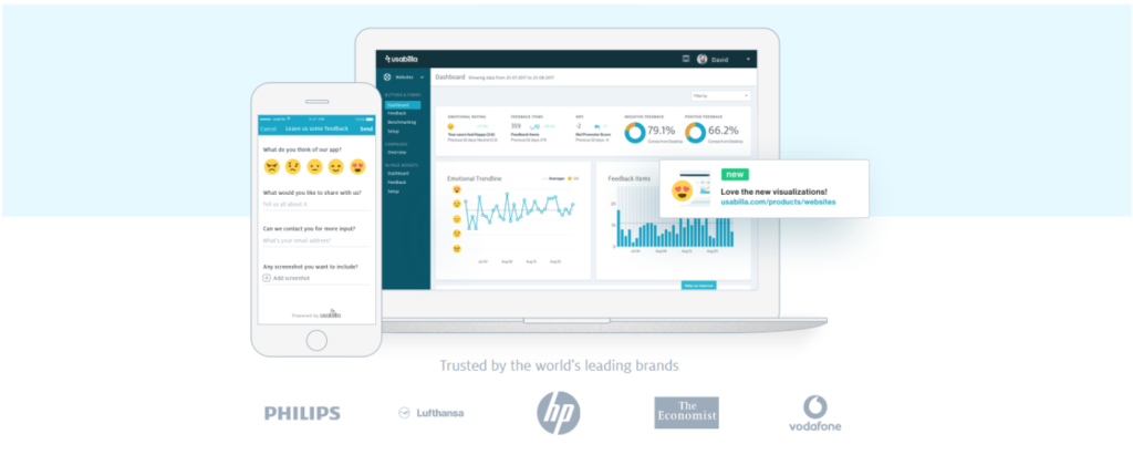 Usabilla is a conversion tool aimed at helping you improve your customer's experience