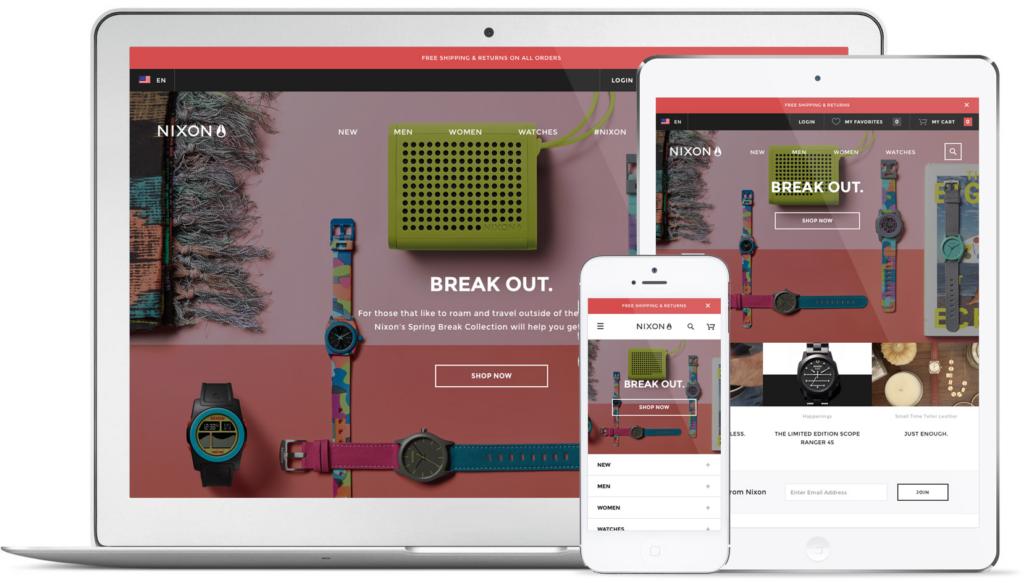 Mobile-responsive eCommerce Website