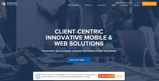 Konstant Infosolutions - Top 5 Custom eCommerce Development Companies