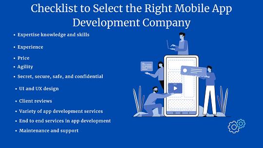 Checklist for Choosing a Leading Mobile App Development Company