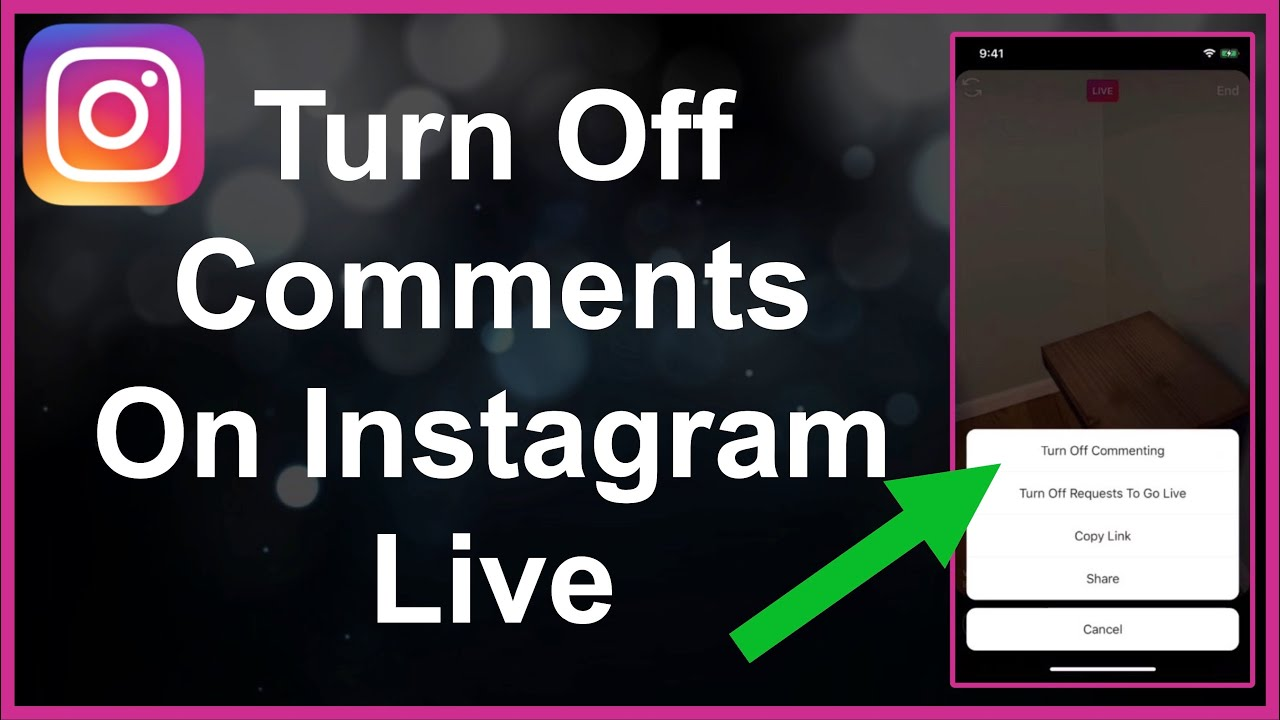 How to hide comments on Instagram live? As a streamer and the viewer