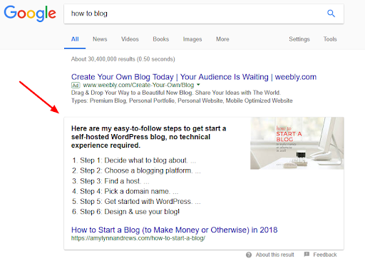 How to Rank in Google's Featured Snippets