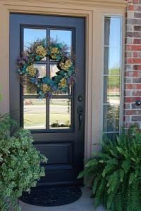 black craftsman style door