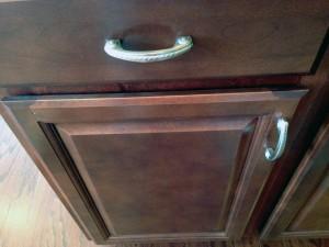 closeup of kitchen cabinet