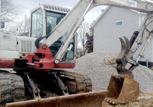 delivering gravel for basement floor