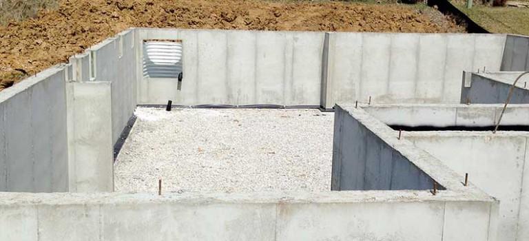 basement foundation with gravel floor