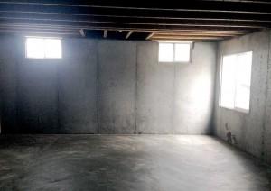 basement foundation with egress window