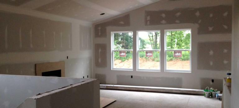 drywalled great room