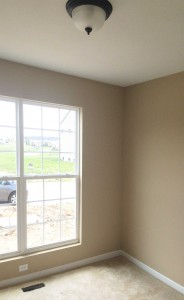 finished painted room