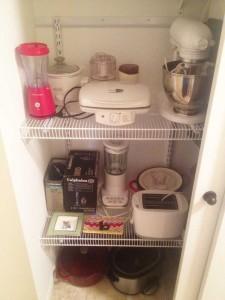 appliance storage shelves