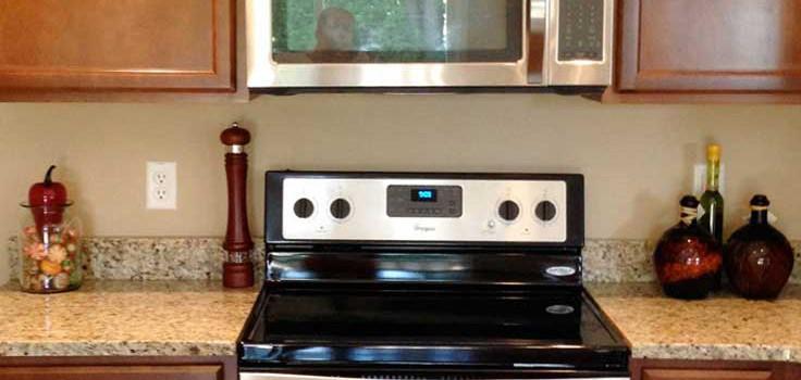crop photo of new kitchen