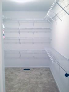 closet shelving installed