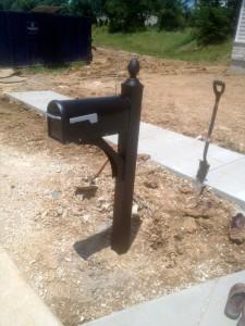 installed mailbox