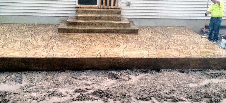 installing stamped patio