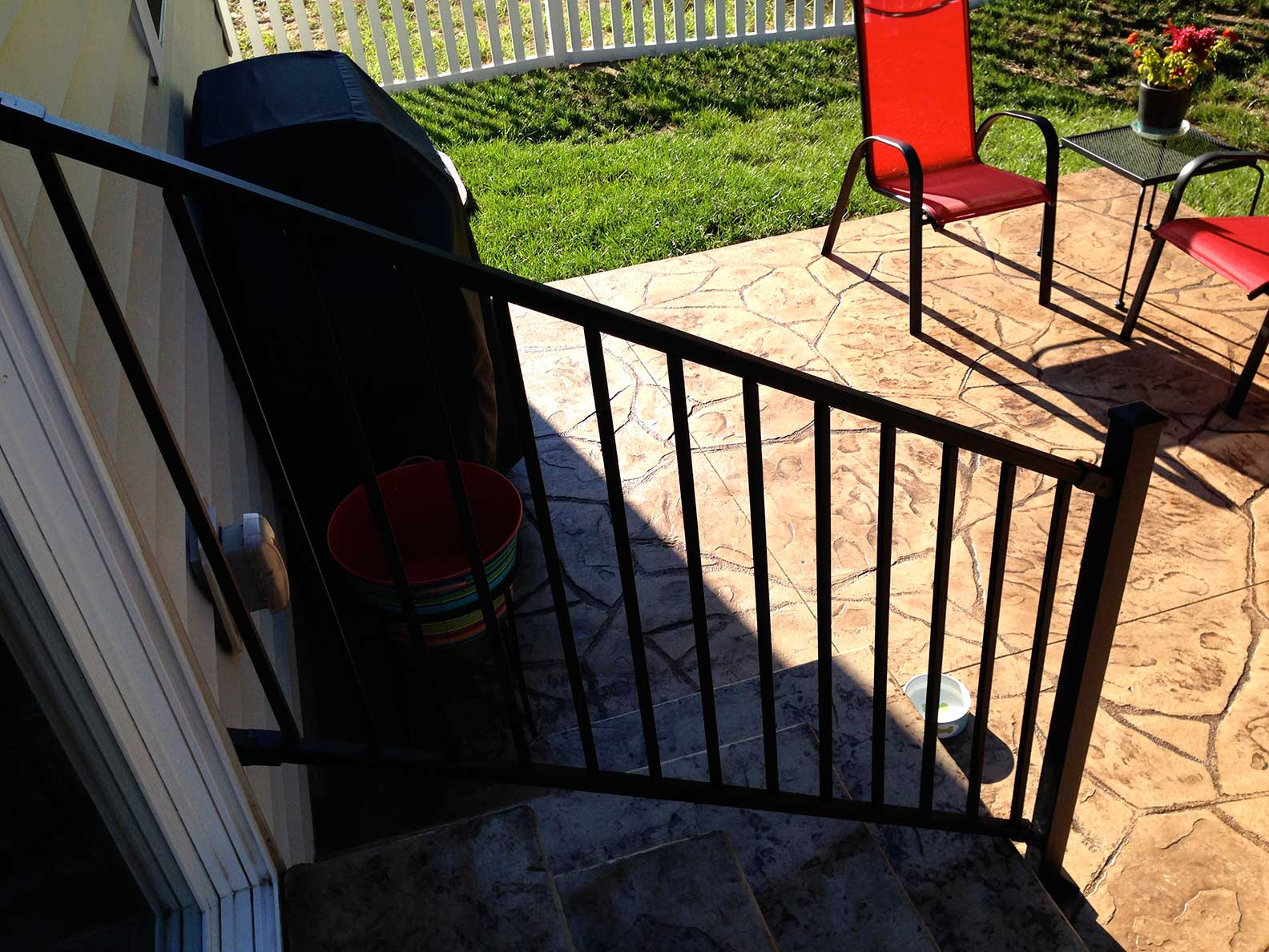 grill on patio