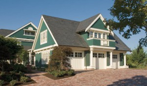 house plan with a guest house