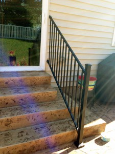 railing added to steps