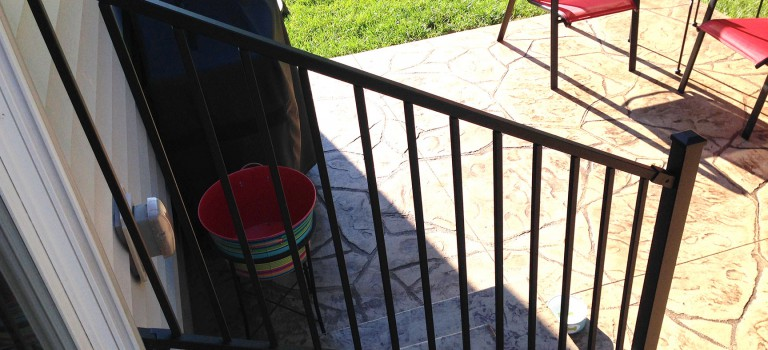 patio step railing