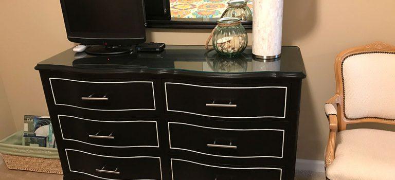 finished dresser