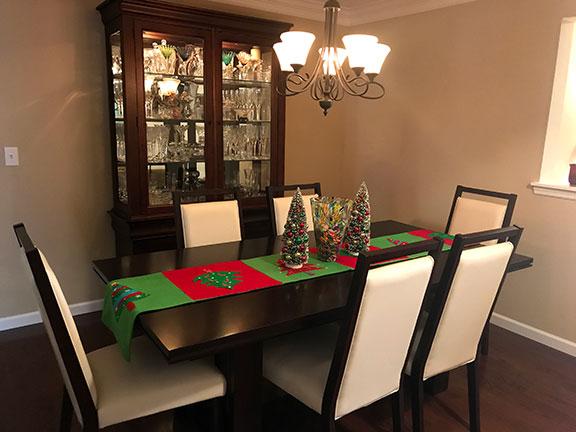 festive table runner