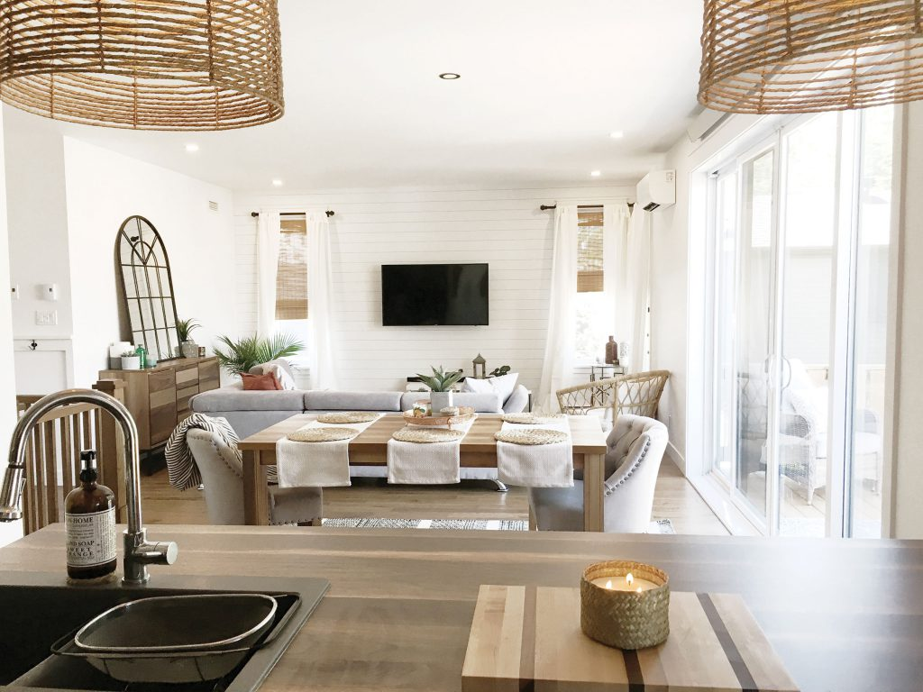 white color palette in great room