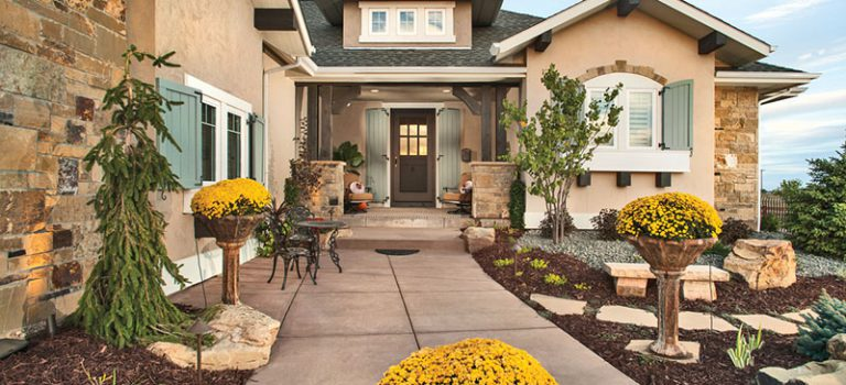 Quaint Country French style home entry - Plan 101D-0045