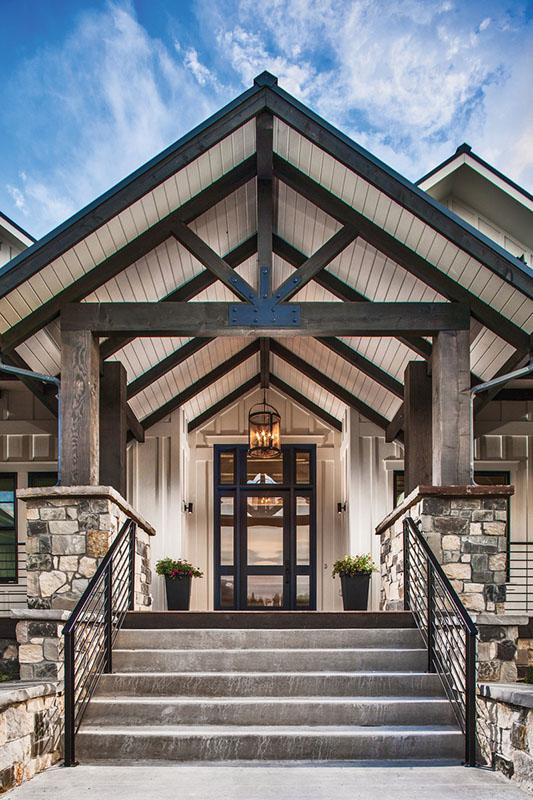 stunning modern farmhouse entry