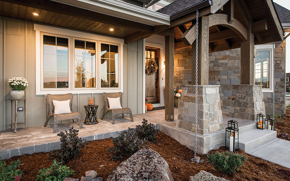 Plan 101D-0052 covered porch
