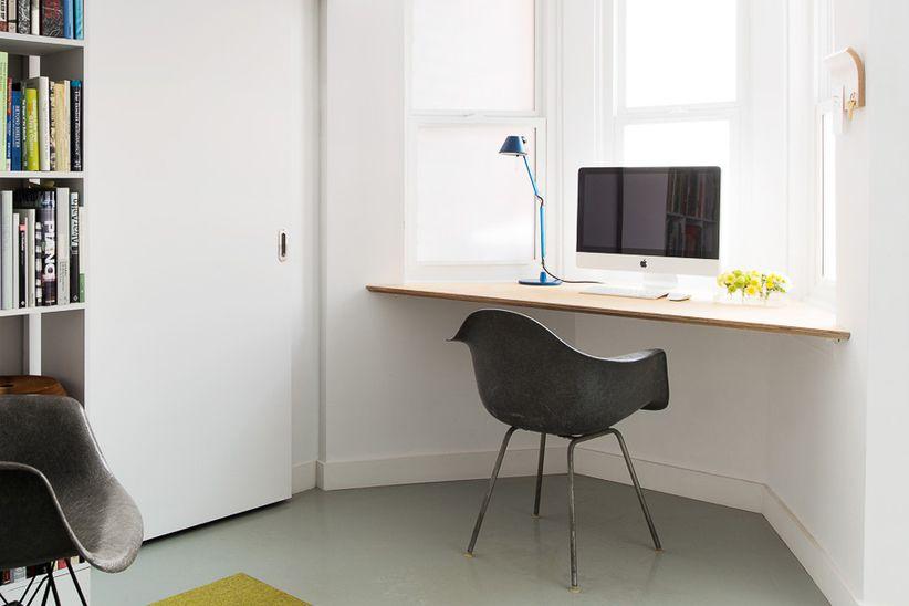 bay window desk space