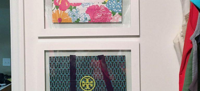 framed shopping bags