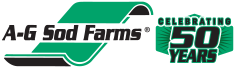 A-G Sod Farms logo Celebrating 50 Years
