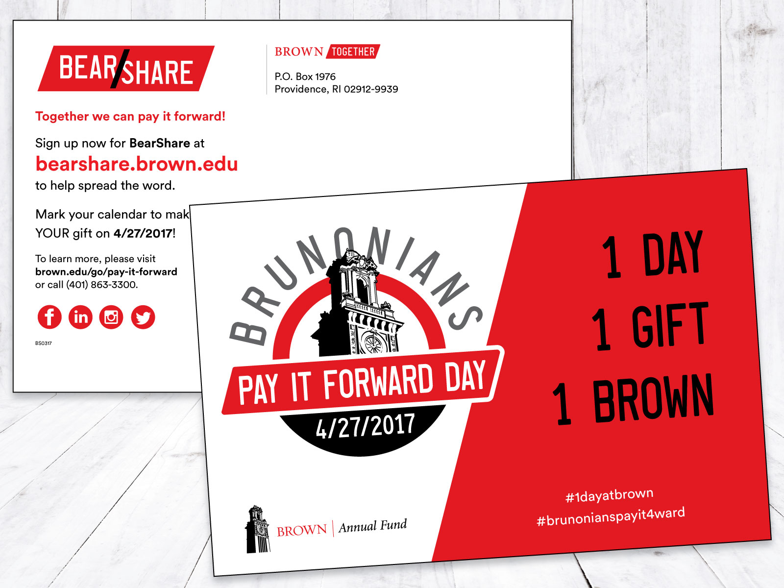 Brown University Pay It Forward Day