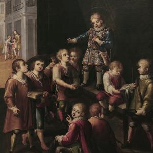 San Luis Gonzaga enseñando a los niños de Roma