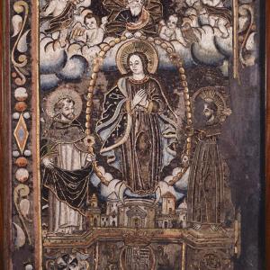 Virgen del Rosario con Santo Domingo y San Francisco