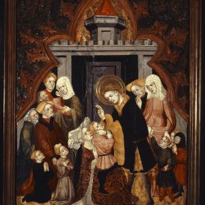 San Hipólito bendiciendo a su familia al regreso del funeral de San Lorenzo