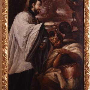 San Francisco Javier bautizando a los nativos