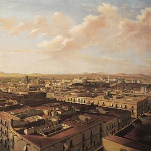 Vista noroeste de la Ciudad de México