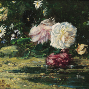 Flores sobre el agua