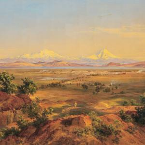 Vista del Valle de México desde la Sierra de Guadalupe