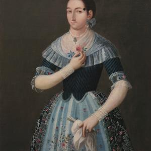 Retrato de María Isabel Gutiérrez, Condesa de Santiago de Calimaya