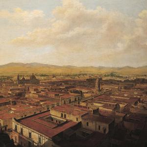 Vista suroeste de la ciudad de México