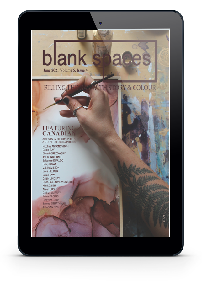 Blank Space June 2020 Cover shown on an Apple iPad screen