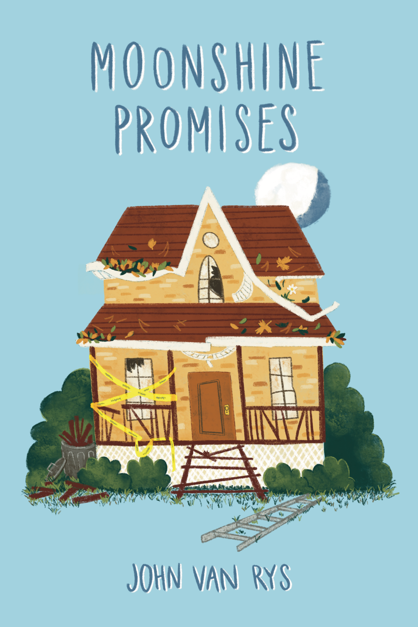 Moonshine Promises Front Cover with Illustration by Rosalinda Perez