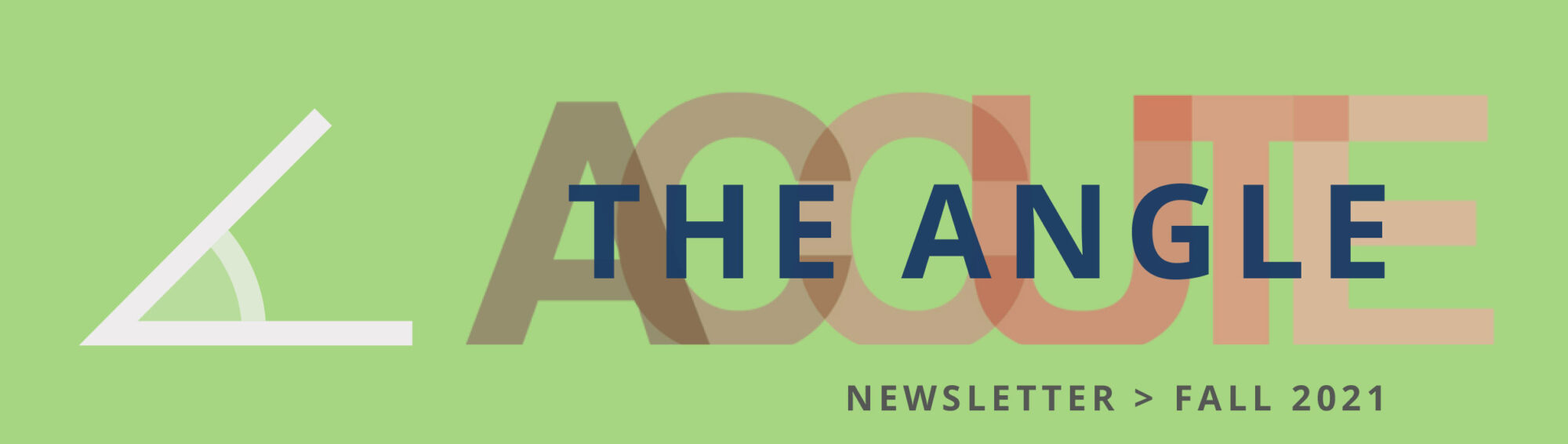 Newsletter Header Graphic for The Angle Fall 2021 issue by ACCUTE