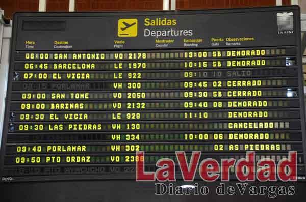 Seis  vuelos demorados presentó el aeropuerto nacional Simón Bolívar
