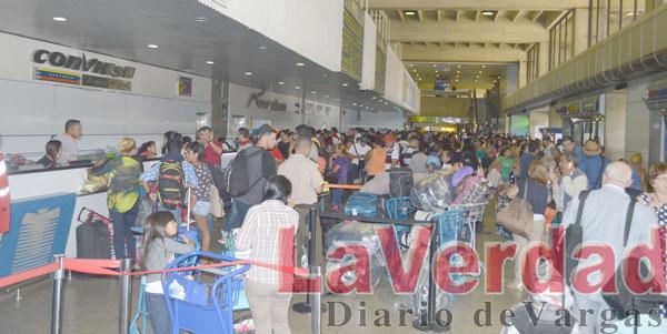 Aumenta número de vuelos demorados en Maiquetía