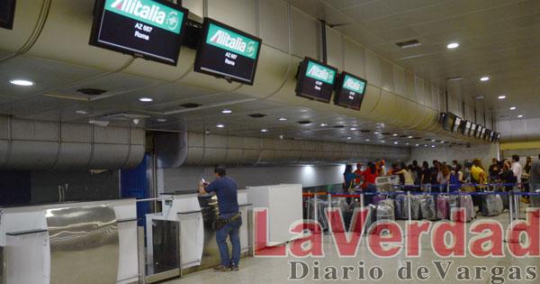Alitalia reanudó sus vuelos desde Maiquetía